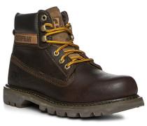 Herren Schuhe Schnürstiefeletten Leder dunkelbraun braun,braun