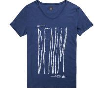 T-Shirt, Baumwolle, indigo