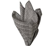 Accessoires Einstecktuch Seide schwarz-weiß gemustert