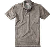 Herren Polo-Shirt Polo Baumwoll-Piqué taupe grau
