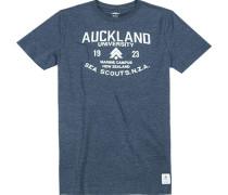 T-Shirt Baumwolle dunkelblau meliert