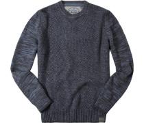 Pullover Baumwolle anthrazit-lavendel meliert