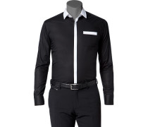 Hemd Ultra Slim Fit Popeline -weiß