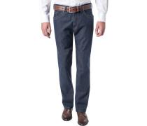 Herren Blue-Jeans Regular Fit Baumwoll-Stretch denim blau