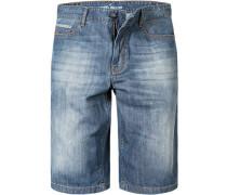 Herren Jeans-Bermudas Baumwolle indigo blau