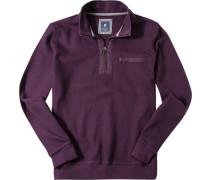 Pullover Troyer Baumwolle violett