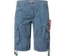 Hose Cargoshorts Regular Fit Baumwolle stahlblau