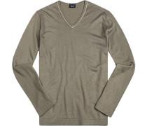 Pullover Seide-Baumwolle khaki