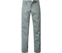 Herren Jeans Straight Fit Baumwoll-Stretch hellgrün