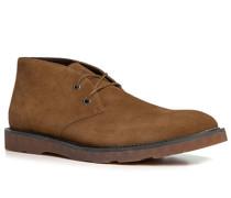 Schuhe Desert Boots Rindveloursleder cognac