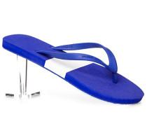 Schuhe Zehensandalen Gummi -weiß gemustert
