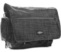 Tasche Laptoptasche, Microfaser, -weiß kariert