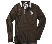 Herren Polo-Shirt Polo Baumwoll-Jersey braun