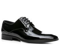 Herren Schuhe Derby Lackleder schwarz schwarz,schwarz