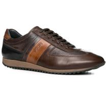 Herren Schuhe Sneakers Rindleder braun schwarz,braun