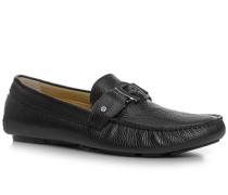 Herren Schuhe Mokassins Kalbleder schwarz schwarz,beige