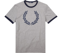 T-Shirt Oberteil Baumwolle meliert