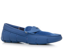 Schuhe Loafer Kautschuk-Mesh mittelblau