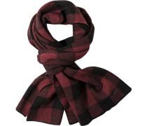 Schal Wolle rot-schwarz kariert