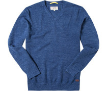 Pulli Baumwolle jeansblau meliert