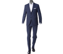Anzug, Wolle, dunkelblau kariert