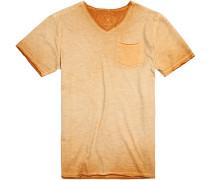 T-Shirt Modern Fit Baumwolle maisgelb meliert