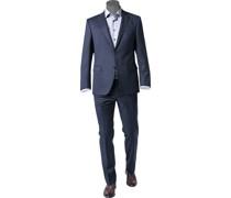 Anzug Modern Fit Schurwolle Super110 REDA dunkelblau