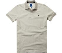 Polo-Shirt Polo Modern Fit Baumwoll-Piqué greige-weiß