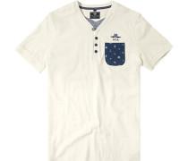 T-Shirt Baumwolle ecru meliert