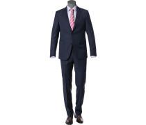 Anzug Modern Fit Schurwolle nachtblau meliert