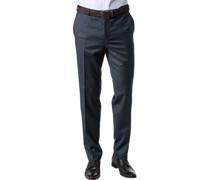 Hose Modern Fit Schurwolle Super110 Reda dunkelblau meliert