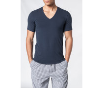 Herren T-Shirts Baumwoll-Stretch marineblau