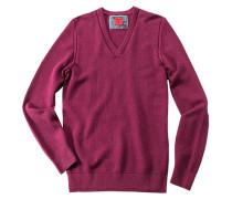Pullover Casual body fit Baumwolle-Kaschmir granat
