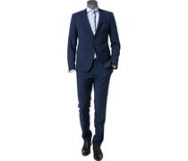 Anzug Extra Slim Fit Schurwolle Super100 dunkelblau