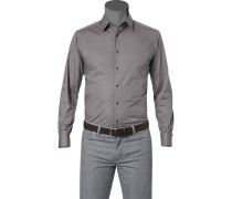Hemd Slim Fit Popeline graphit