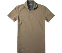 Herren Polo-Shirt Polo Baumwoll-Piqué hellbraun