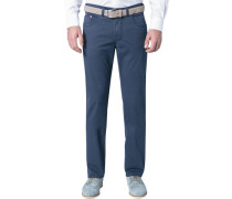 Herren Jeans Regular Fit Baumwoll-Stretch marine blau
