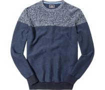 Pullover Baumwolle marine gemustert