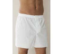 Schlafanzug Boxer-Shorts Baumwolle mercerisiert weiß, oder anthrazit