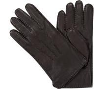 Handschuhe Hirschleder Strickfutter Kaschmir mocca