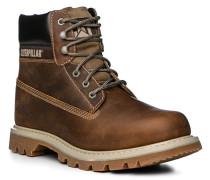 Herren Schuhe Schnürstiefeletten Leder braun braun,braun