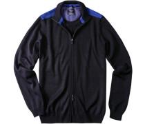 Cardigan Schurwolle marineblau