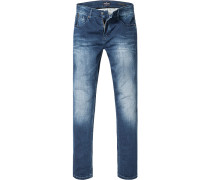 Blue-Jeans Modern Fit Baumwoll-Stretch jeansblau
