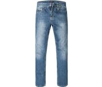 Blue-Jeans Regular Comfort Fit Baumwolle jeansblau