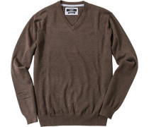 Pullover Baumwolle cappuccino meliert