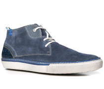 Herren Schuhe Sneaker Veloursleder blau blau,weiß