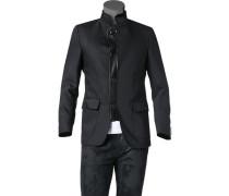 Herren Sakko Woll-Stretch schwarz
