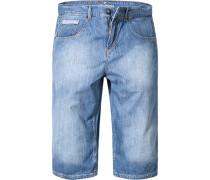 Jeans-Bermudas Baumwolle hellblau