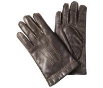Handschuhe Nappaleder Strickfutter Kaschmir-Wolle mocca