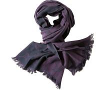 Herren  Schal Viskose-Wolle violett-blau gemustert
